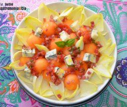 Vinagreta de tomate y jamón