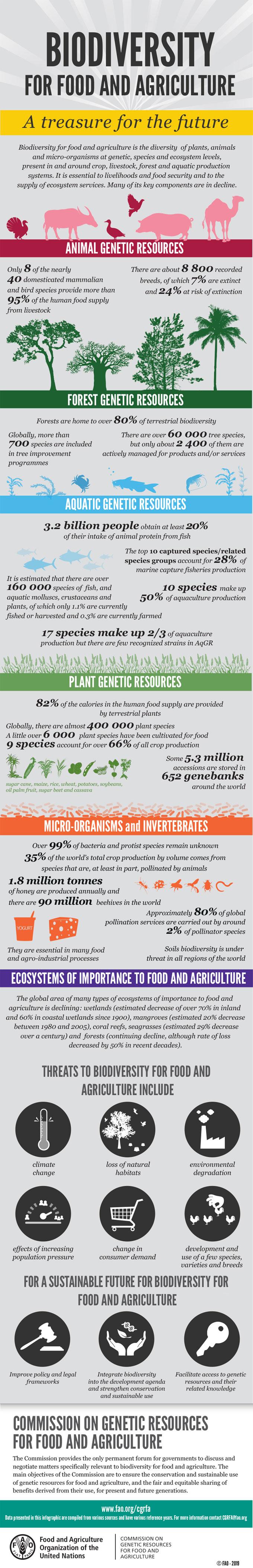 Infografía sobre los recursos genéticos