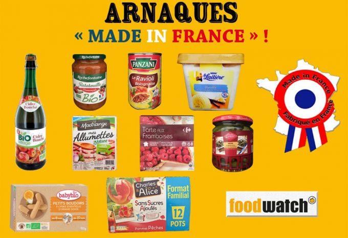 Productos alimenticios que se presentan como nacionales sin serlo