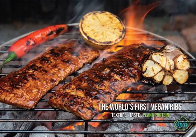 Carne vegana que imita a la carne de cerdo