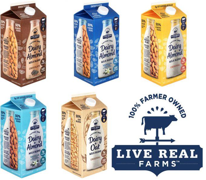 Mezcla de leche de vaca y leches vegetales