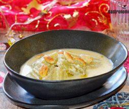 Receta de sopa con cardos y almendras