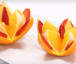 Cómo hacer decoraciones con fruta