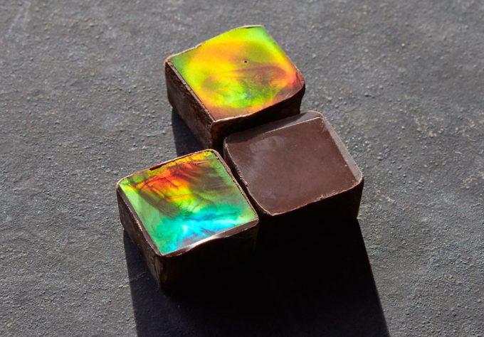 Color estructural en el chocolate