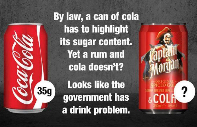 Bebidas alcohólicas con exceso de azúcar