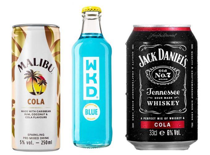 Cócteles y otros combinados alcohólicos listos para consumir