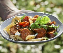 Salchichas elaboradas con ingredientes vegetales