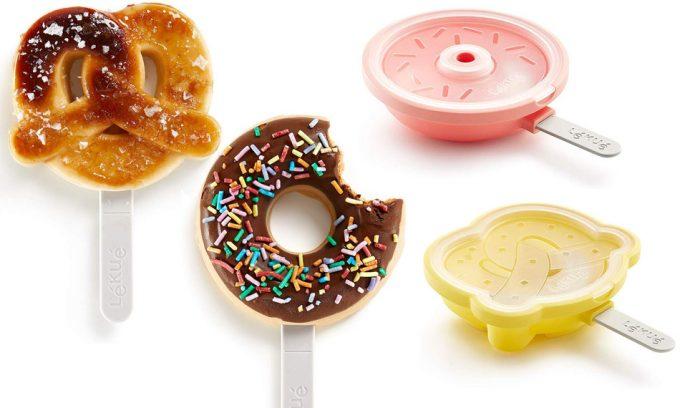 Moldes para helados de donut y de pretzel