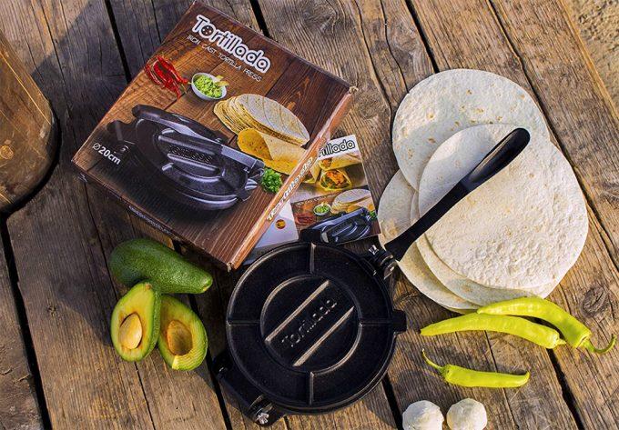 Prensa de hierro para tortillas
