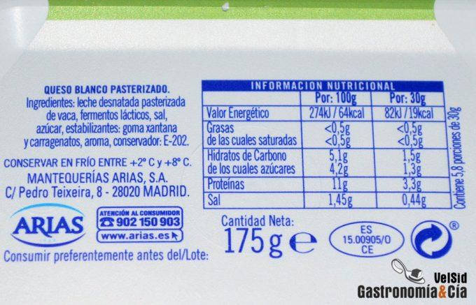 Etiquetas nutricionales más transparentes