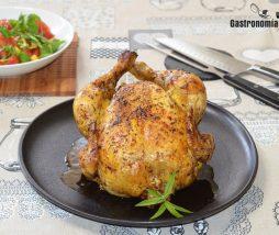 Receta de pollo entero al horno