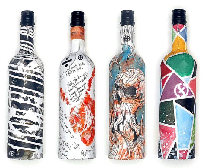 Botellas de cartón para el vino