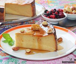 Cheesecake de plátano y caramelo