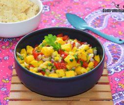 Salsa de mango picante y dulce