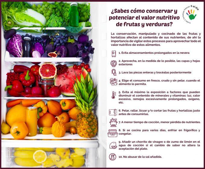 Conservar y consumir frutas y verduras