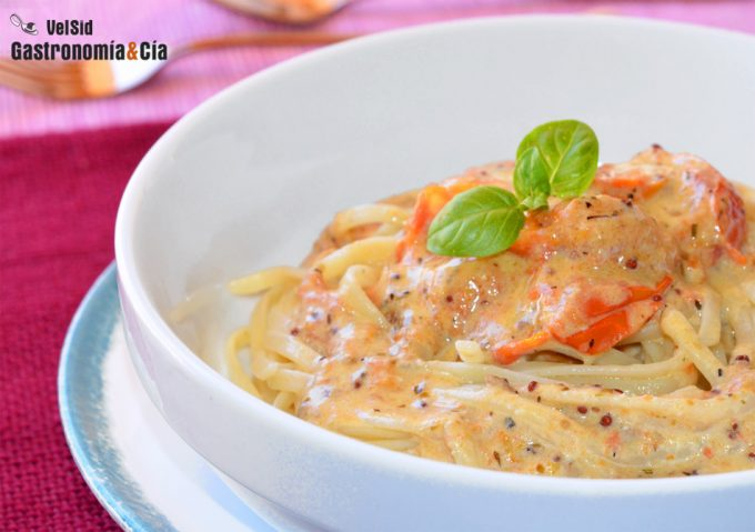 Receta de pasta con salsa cremosa