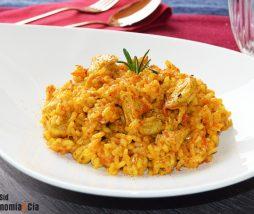 Receta de arroz con carne vegetal