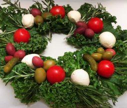Decoración navideña comestible
