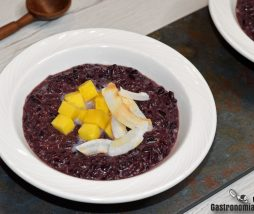 Receta de pudin de arroz negro glutinoso