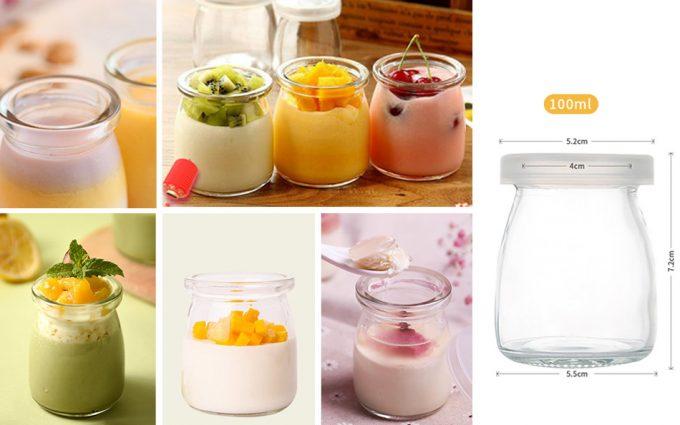 Tarros para yogur y postres