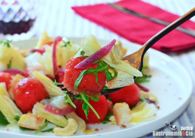 Recetas saladas con sandía