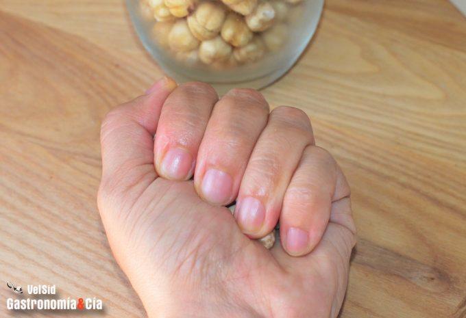 Ración de nueces, avellanas, almendras, pistachos