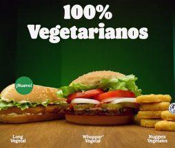Alimentos 100% vegetales de Burger King